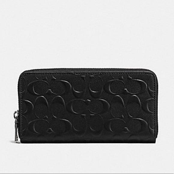 Coach Handbags - AUTHENTIC COACH ACCORDION WALLET (BLACK)